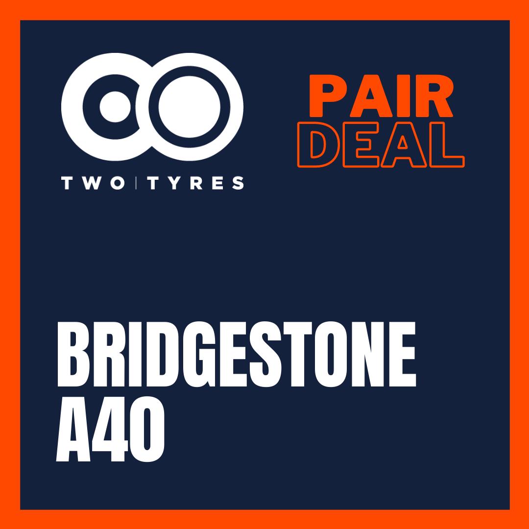 Bridgestone A40 Pair Deal 110/80 VR19 + 150/70 VR17 Preview